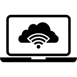 laptop-connected-to-the-cloud